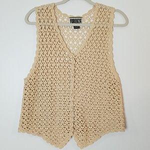 Forenza crocheted vest